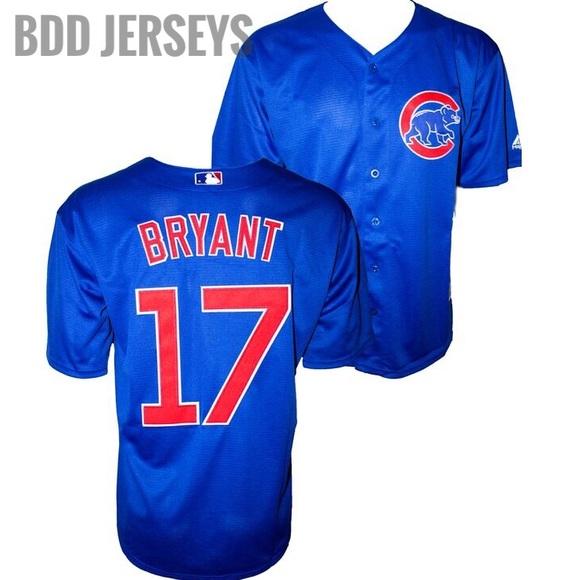 321f25ce941 Cool Base Shirts | Chicago Cubs Kris Bryant Jersey Blue | Poshmark